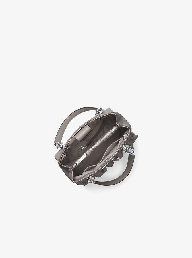 3ba15096cef2 Michael Michael Kors Cynthia Small Ruffled Leather Satchel detail image