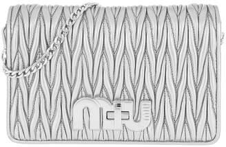 Miu Miu Matelasse Nappa Leather Clutch Cromo