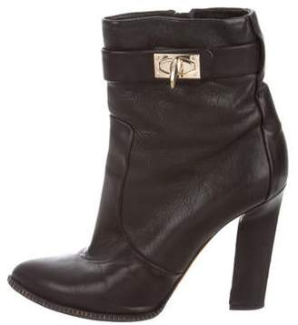 Givenchy Leather Shark-Lock Booties