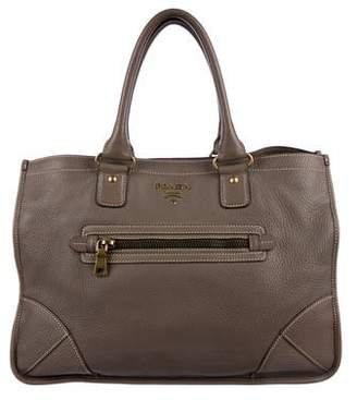 ef272994b6bf ... discount code for pre owned at therealreal prada cervo pocket tote  1f300 beca4