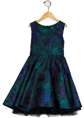 Chloé Girls' Brocade Floral Dress