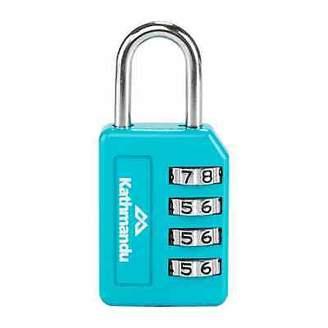 Kathmandu 4 Dial Backpack Luggage Security Password Combilock Padlock