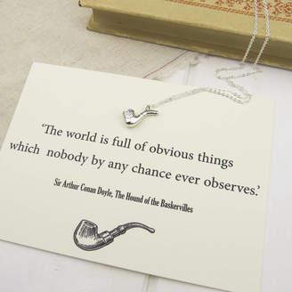Holmes Literary Emporium Sherlock Silver Pipe Necklace
