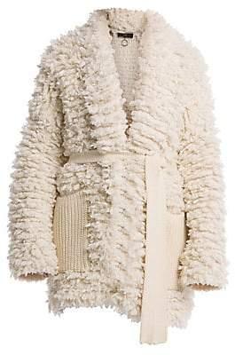 Alanui Women's Patch Pocket Knit Coat