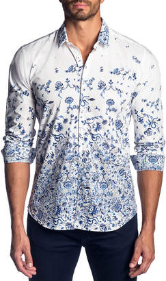 Jared Lang Trim Fit Woven Shirt