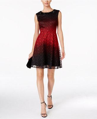 Sandra Darren Lace Fit & Flare Dress $89 thestylecure.com