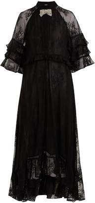 DODO BAR OR Rossano ruffle-trimmed lace dress