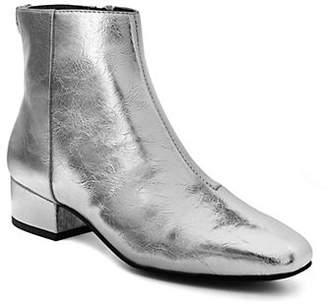 Sam Edelman Lyndsey Crackle Metallic Ankle Booties