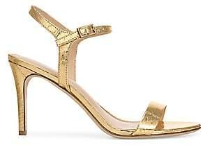 Via Spiga Women's Madeleine Snake-Embossed Metallic Sandals