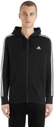 adidas 3 Stripes Brushed Hooded Sweatshirt