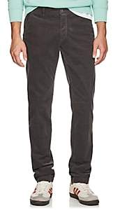 Barneys New York Men's Torino Corduroy Slim Trousers - Dark Gray