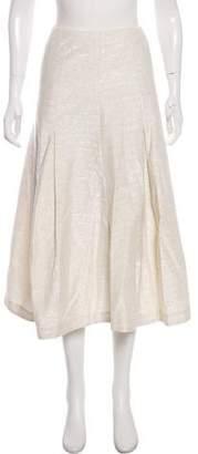 Co Metallic Midi Skirt