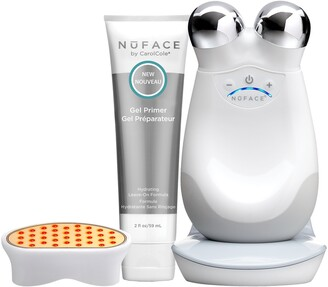 NuFace Trinity Facial Toning Device + Wrinkle Reducer Attachment Bundle