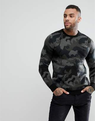Pull&Bear Sweater In Camouflage