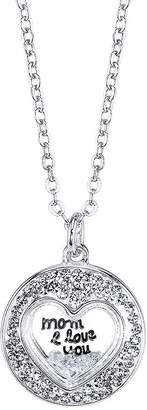 CRYSTAL SOPHISTICATION Crystal Sophistication Mom I Love You Necklace Pendant