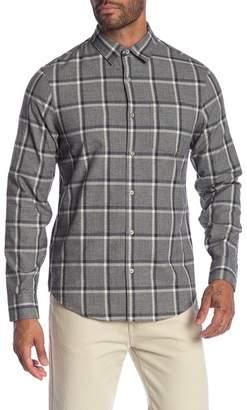 Original Penguin Jaspe Brushed Plaid Long Sleeve Slim Fit Shirt