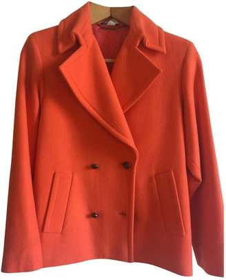 Gianni Versace Orange Wool Jacket for Women Vintage
