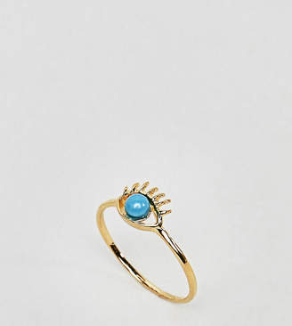 Asos DESIGN Gold Plated Sterling Silver Eye Ring