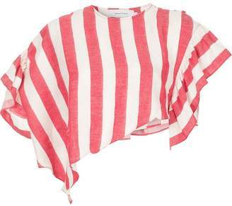 Marques Almeida Marques'almeida asymmetric striped cropped top