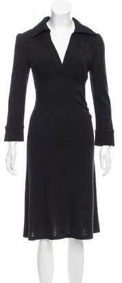 Diane von Furstenberg Rib Knit Midi Dress