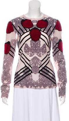 Yigal Azrouel Embroidered Long Sleeve Top