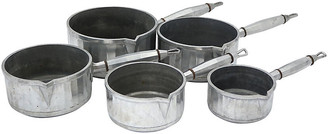 One Kings Lane Vintage 1920s French Art Deco Sauce Pans - Set of 5 - Rose Victoria