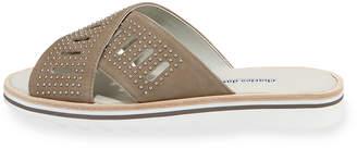 Charles David Sneaky Studded Suede Slide Sandal