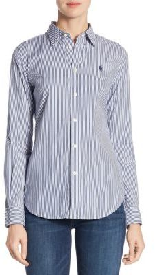 Polo Ralph Lauren Andrew Kendal Stretch Slim-Fit Striped Shirt $98.50 thestylecure.com