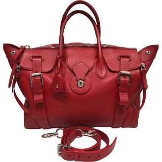 Ralph Lauren Ricky Red Leather Handbag