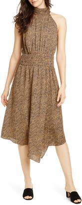 Joie Kehlani Halter Neck Asymmetrical Dress