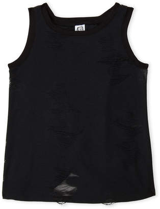 Erge Girls 7-16) Distressed Tank