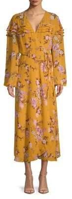 WAYF Floral Wrap Maxi Dress