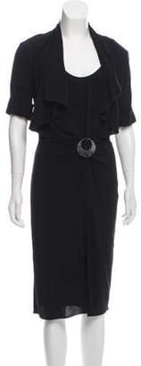 Max Mara Short Sleeve Midi Dress Black Short Sleeve Midi Dress
