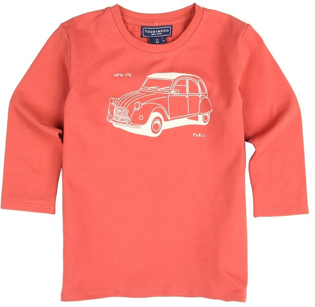 Möve Toobydoo - Boy's On The Salmon Red Tee (Toddler/Little Kids/Big Kids) (Red) - Apparel