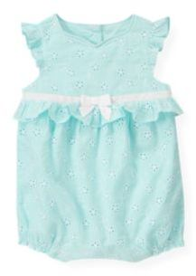 Janie and Jack Floral Eyelet Bubble