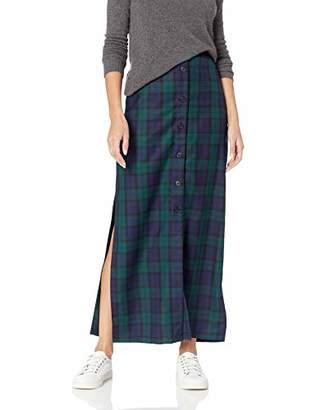 Pendleton Women's Button-Front Long Wool Skirt