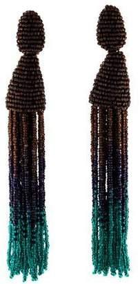 Oscar de la Renta Long Ombré Tassel Earrings