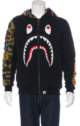 A Bathing Ape Hooded Shark Bomber Jacket