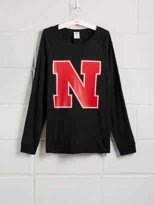 PINK University of Nebraska Long Sleeve Grommet Campus Tee