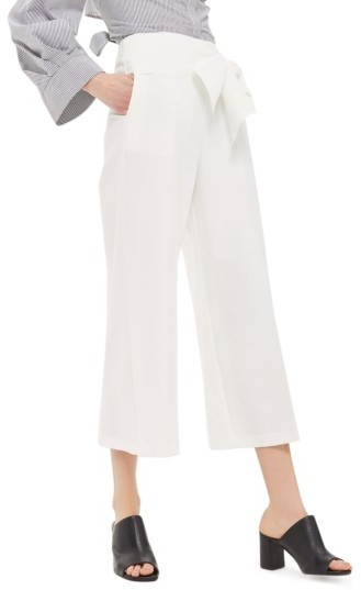 Topshop Women's Topshop Belted Wide Leg Trousers