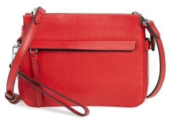 Vince Camuto Small Edsel Leather Crossbody Bag - Red