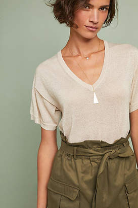 White + Warren Shine V-Neck Top