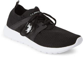U.S. Polo Assn. Black Aeris Knit Mesh Sneakers