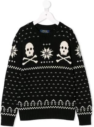 Ralph Lauren Kids skull intarsia jumper