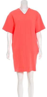 Cédric Charlier V-Neck Short Sleeve Dress