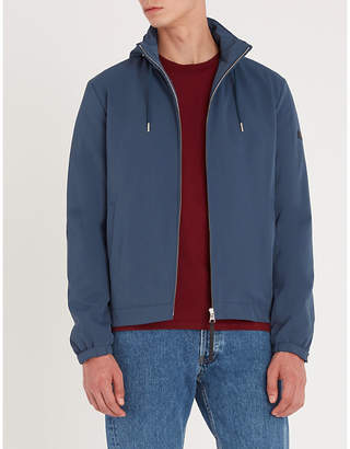 Sandro Drawstring twill hooded jacket