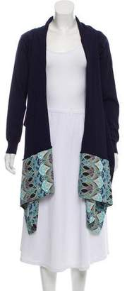 Blugirl Asymmetrical Open Front Cardigan