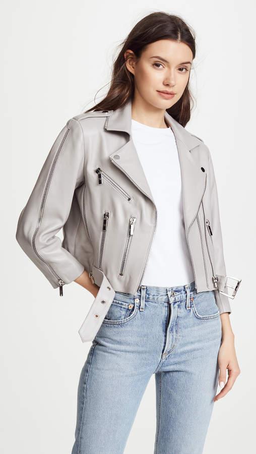 Nour Hammour Avalon Cropped Moto Jacket