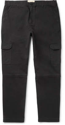 Folk Ripstop-Panelled Cotton-Twill Cargo Trousers - Men - Charcoal