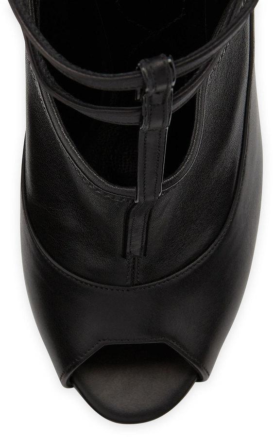 Nicholas Kirkwood T-Strap Peep-Toe Ankle Boot